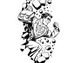 Dibujo de Superhero rompendo un muro