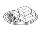Dibujo de Tōfu con verdure