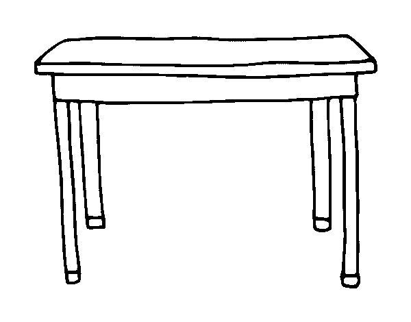 Disegno di Tavolo rettangolare da Colorare - Acolore.com