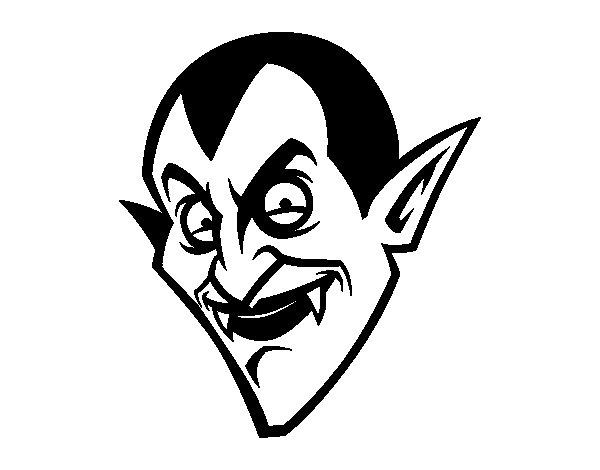 Disegno di Testa di il Conte Dracula  da Colorare