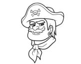 Disegno di Testa di pirati da colorare