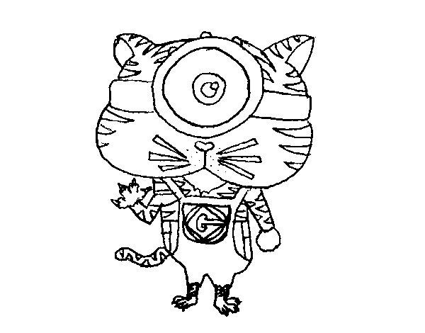 Disegno di tigre minion da colorare for Immagini tigre da colorare