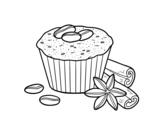 Disegno di Torta di caffè da colorare