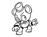 Disegno di Toy Freddy di Five Nights at Freddy's da colorare