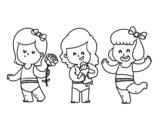 Disegno di Triplette da colorare