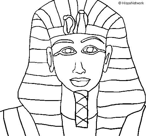 Disegno di Tutankamon da Colorare