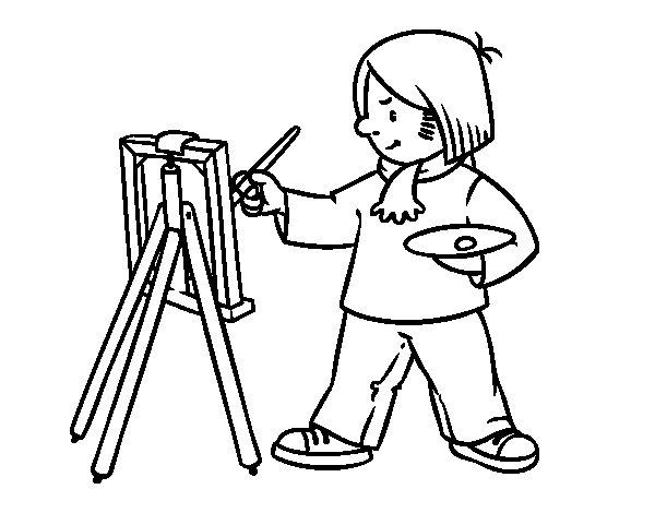 Disegno di Un artista da Colorare
