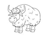Disegno di Un búfalo da colorare