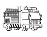 Disegno di Un camion dei pompieri da colorare