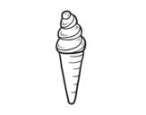 Disegno di Un cono gelato da colorare