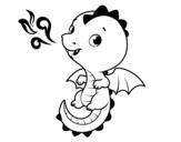 Disegno di Un drago del bambino da colorare