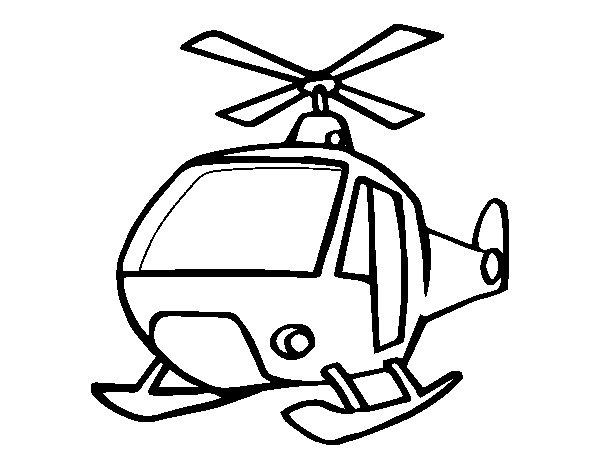 Elicottero Disegno : Disegno di un elicottero da colorare acolore