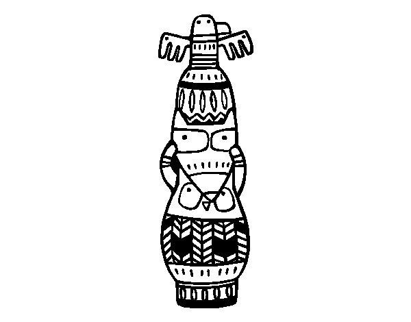 Disegno di Un totem da Colorare