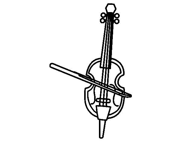 Disegno di Un Violino da Colorare