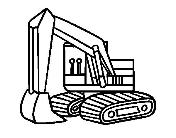 Disegno di Una scavatrice da Colorare