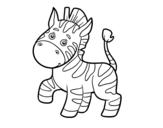 Disegno di Una zebra africana da colorare