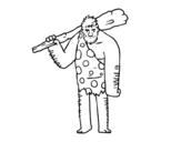 Disegno di Uomo delle caverne da colorare