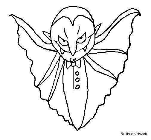 Disegno di Vampiro agghiacciante  da Colorare