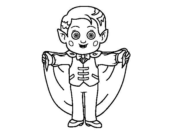 Disegno di Vampiro amichevole da Colorare