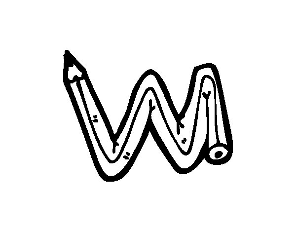 Disegno di W minuscola da Colorare