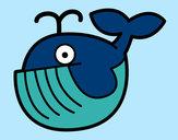Disegno Balena bebè pitturato su alessiacom
