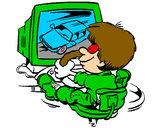 Disegno Videogiochi pitturato su CesareAri