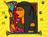 Disegno Cleopatra pitturato su omarr