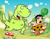 Disegno Dinosauro cacciatore pitturato su amir