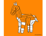 Disegno Cavallo di Troia pitturato su Francesc09