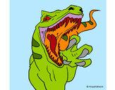 Disegno Velociraptor  II pitturato su dieguito