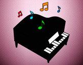 Disegno Pianoforte a coda pitturato su gabry73
