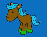 Disegno Pony felice pitturato su GABRIEL17