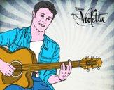 Disegno Violetta - Tomas pitturato su Lusi
