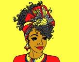 Disegno Donna africana pitturato su Gloriana