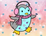 Pinguino con la sciarpa