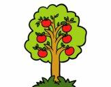 Disegno Un melo pitturato su rachel