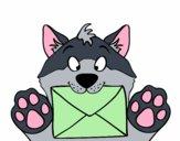 Cane con la lettera
