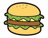 Hamburger con lattuga