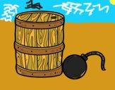 Polvere da sparo e pirata bomba