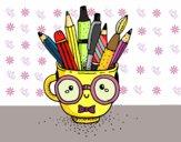 Disegno Copo animado com lápis pitturato su stefan