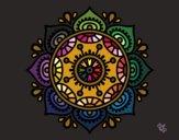 Disegno Mandala per rilassarsi pitturato su stefan