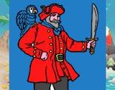Pirata con il pappagallo