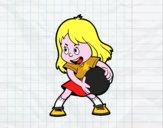 Bambina con una palla