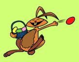 Coniglietto di Pasqua felice