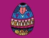 Uovo di Pasqua con il cuore