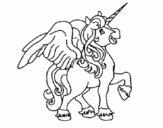Unicorno con le ali