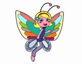 Fata farfalla contenta