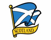 Disegno Bandiera della Scozia pitturato su jeep