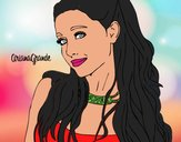 Disegno Ariana Grande con il collare pitturato su DavidCris