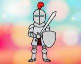 Cavaliere con spada e scudo